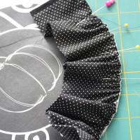 pin ruffle around circle