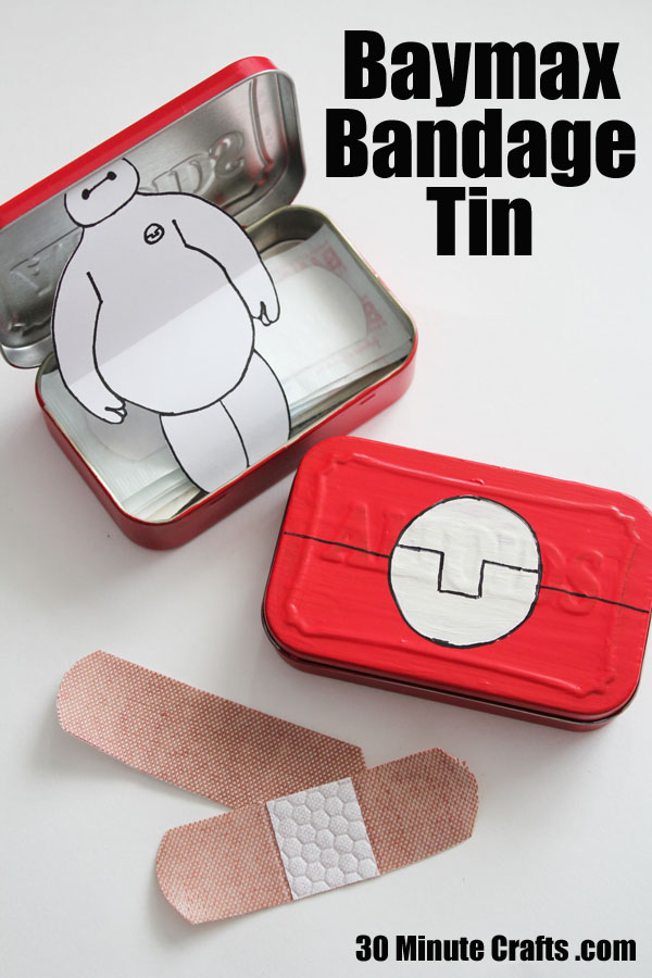 Baymax Bandage tin - Big Hero 6 Craft