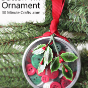 Button Tin Ornament on 30 Minute Crafts