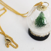 Make a Snow Globe Necklace