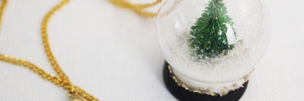 Make a Snow Globe Necklace