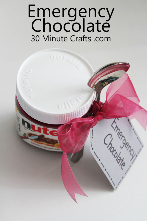 Nutella Emergency Chocolate Craft