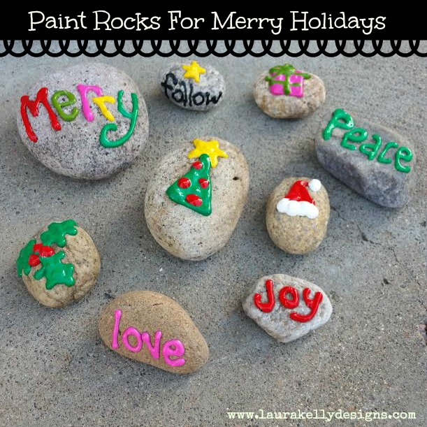painted rocks christmas