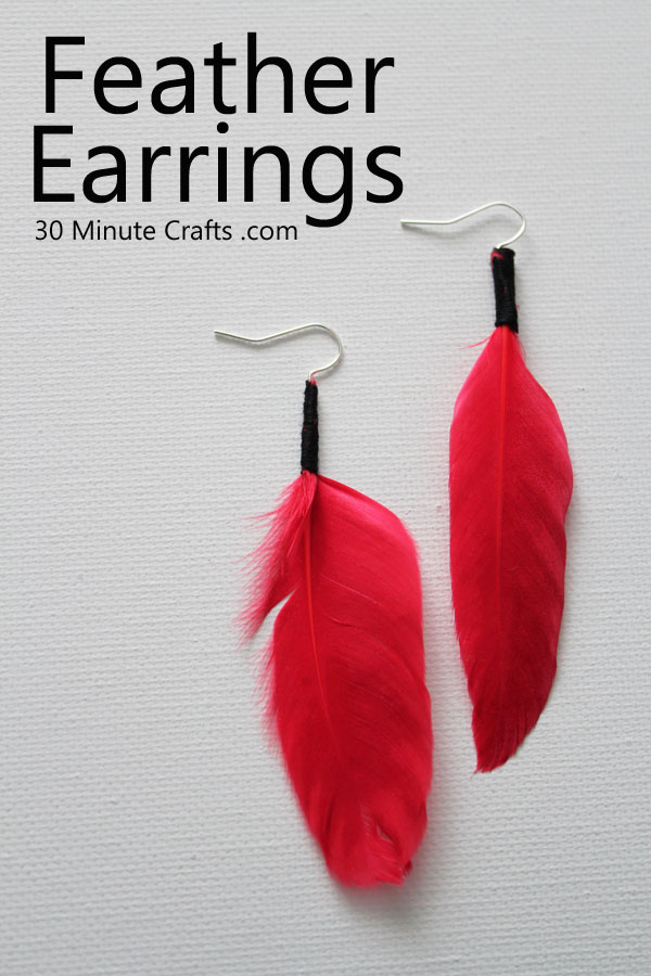 Simple Feather Earrings