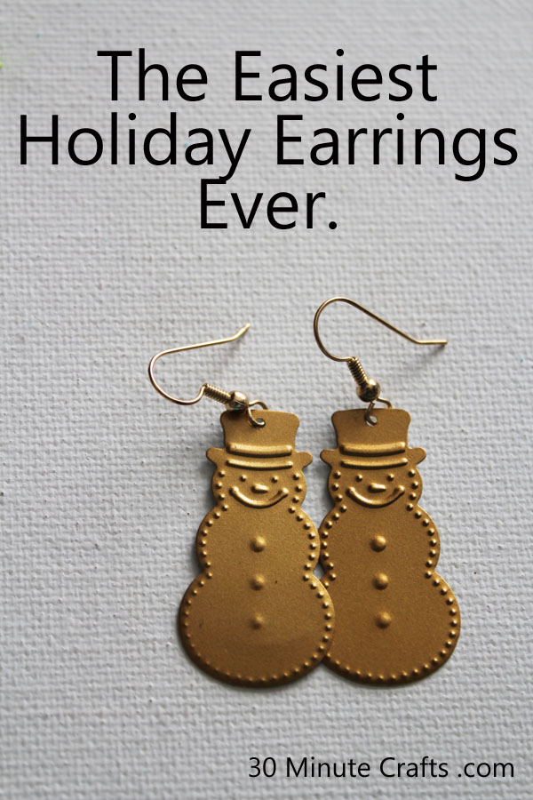 The easiest holiday earrings ever