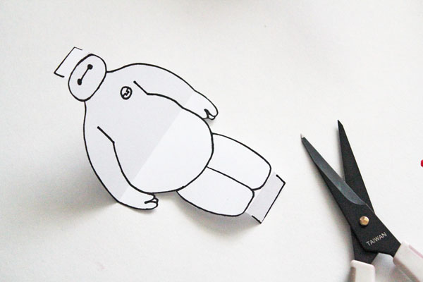 cut out baymax