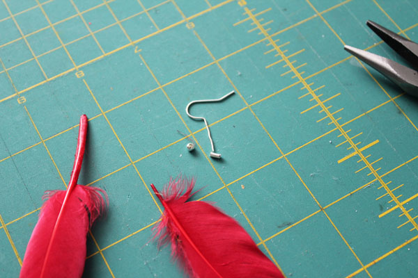 how to make long feather earrings with monofilament