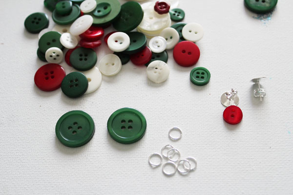 supplies for button earrings