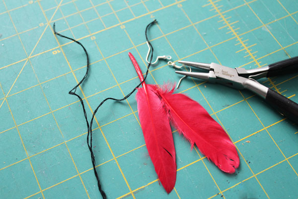 supplies for feather earrings
