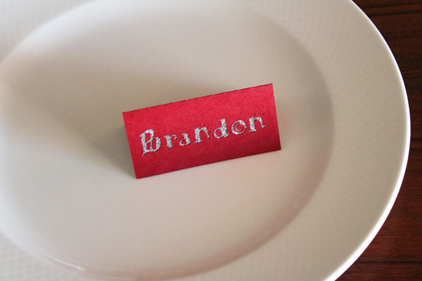 simple placecards