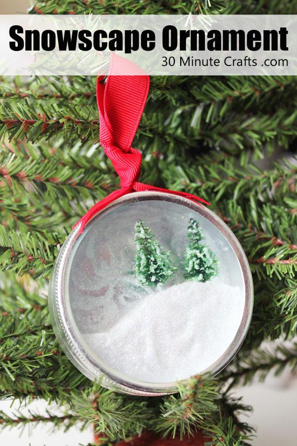 snowscape ornament
