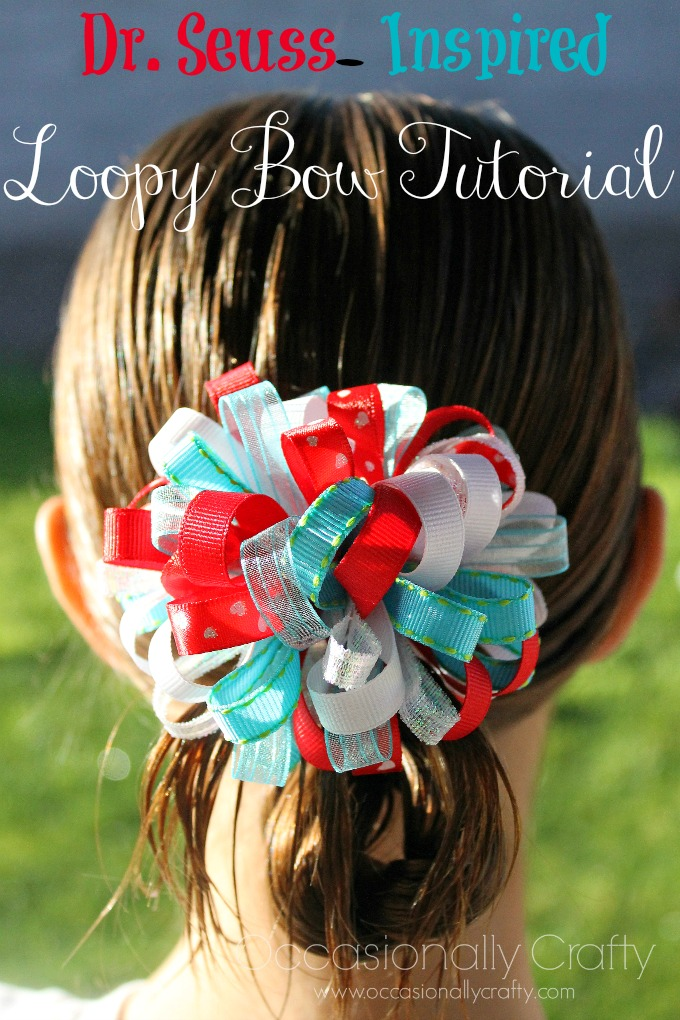 Dr. Seuss-Inspired Loopy Bow Tutorial