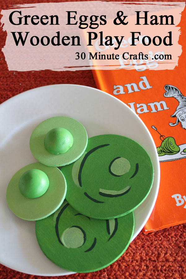 Green Eggs and Ham Wooden Play Food