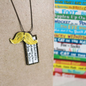 Lorax Mustache Necklace Craft