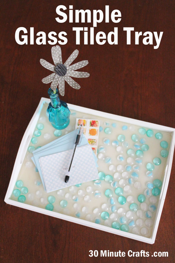 Simple Glass Tiled Tray