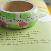 Wooden Bracelet with Dr Seuss Quote