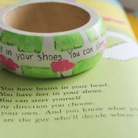 Wooden Bracelet with Dr Seuss Quote