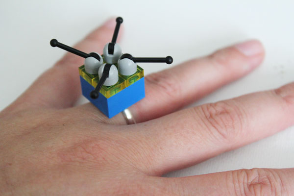 blinged out lego ring