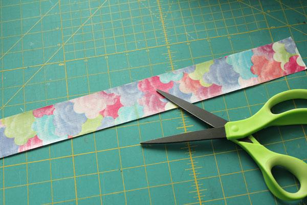 cut strip of tape