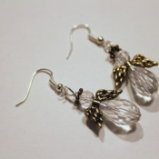 finished angel earrings