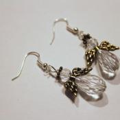 finished angel earrings