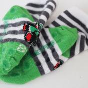 finished no slip socks