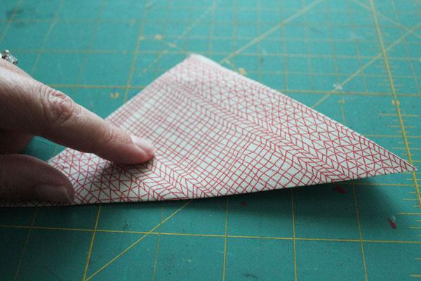 fold into triangle