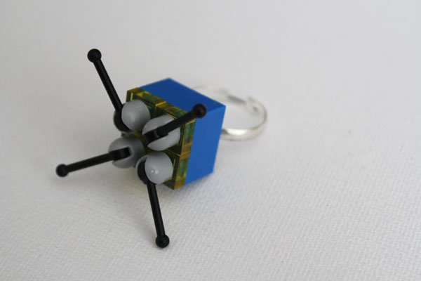 make a blinged out lego ring