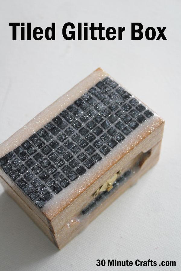 make a little tiled glitter box
