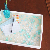 make a simple glass tiled tray