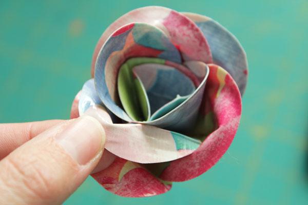 open up petals