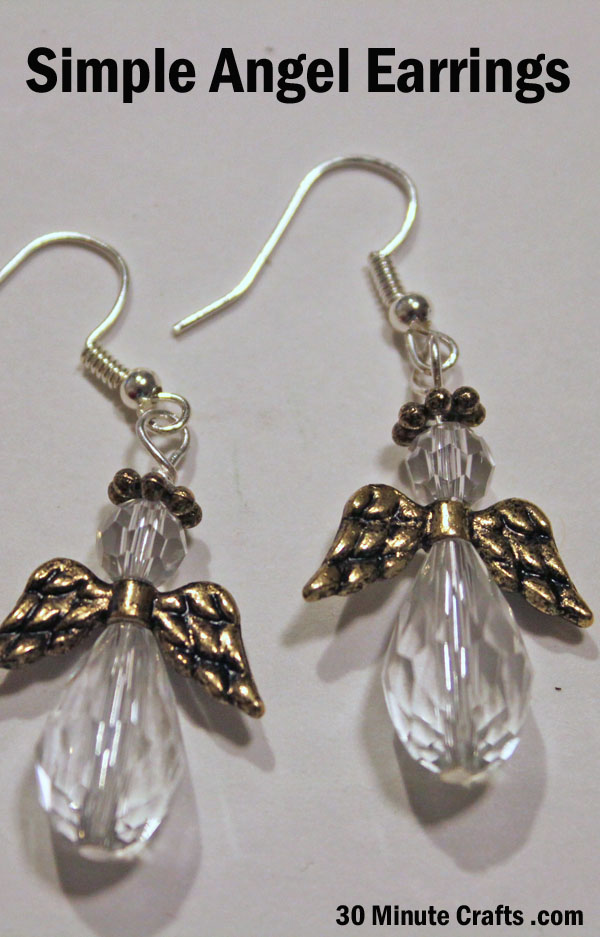 simple angel earrings