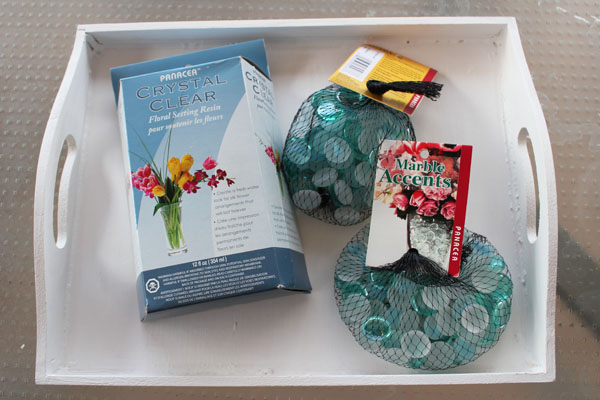 supplies for glass tiled tray