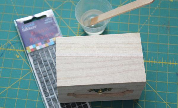 supplies for tiled glitter box