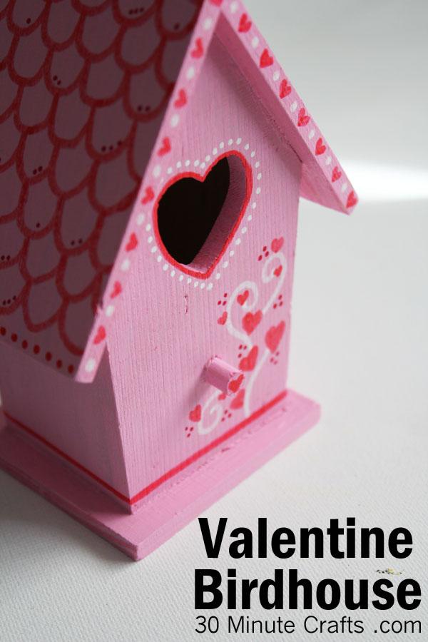 DIY Valentine Birdhouse