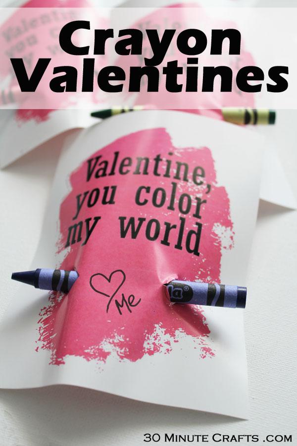 Free Printable Crayon Valentines