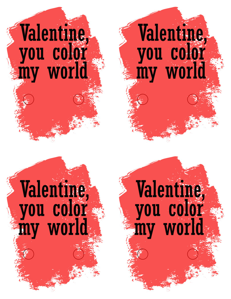 Valentine you color my world