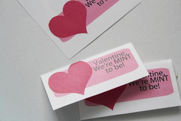 fold mint to be valentine
