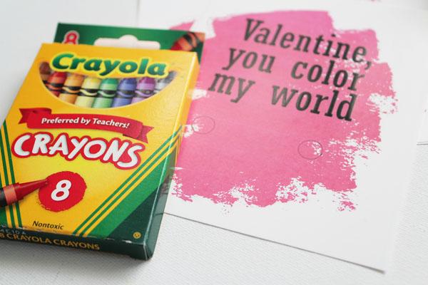 supplies for crayon valentines