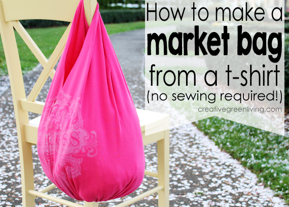 How to make a bag from a tshirt