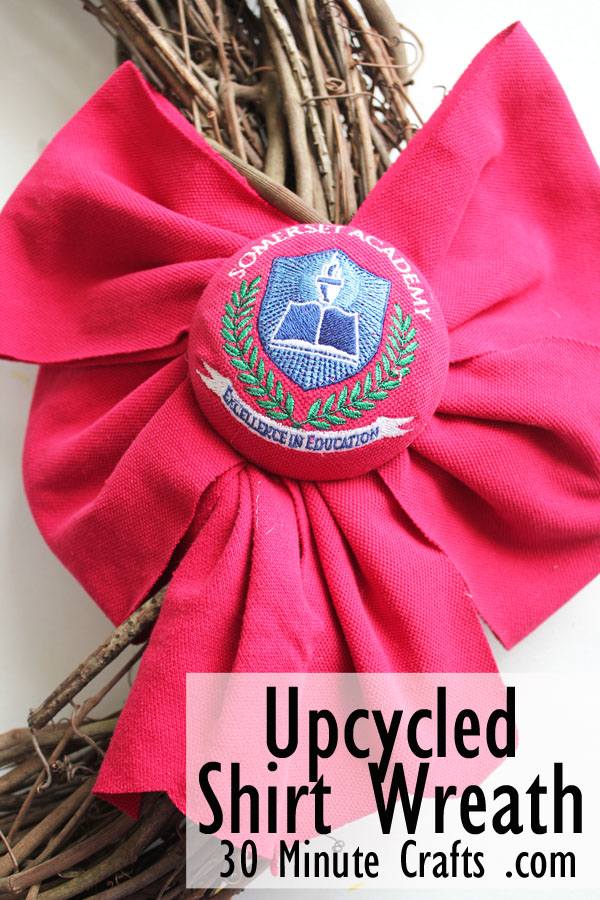 Upcycled Shirt Wreath