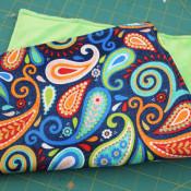 finished crinkle blanket