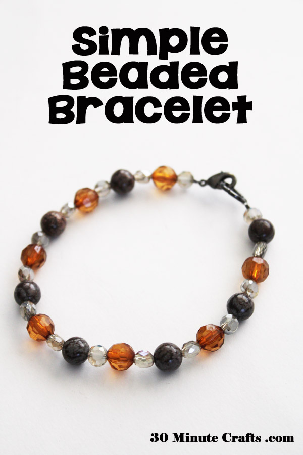 simple beaded bracelet you can make in 15 minutes