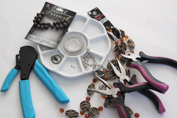 supplies for simple beaded bracelet