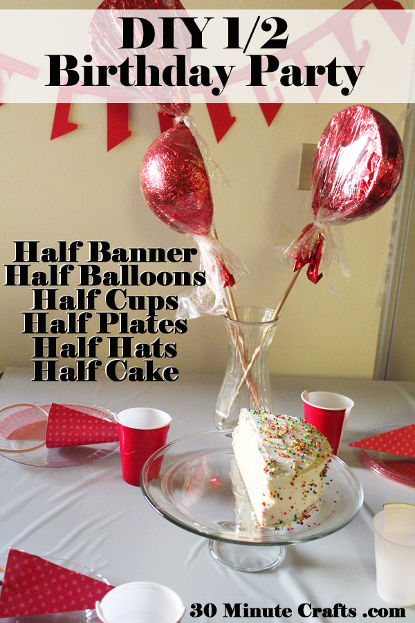 DIY half birthday party supplies