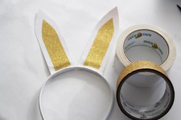 Make Duck Tape bunny ears
