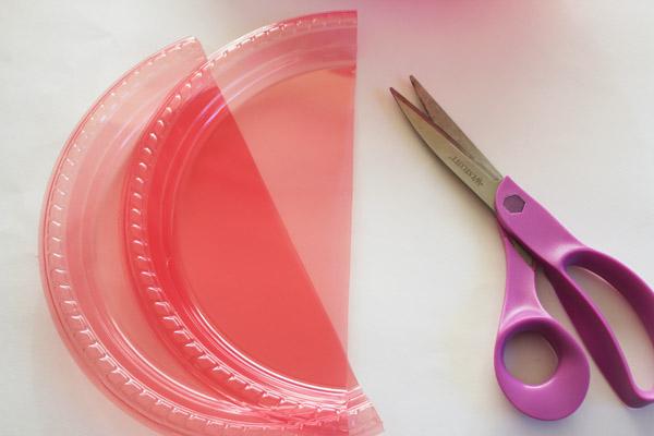 cut plate in half