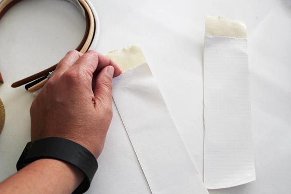 fold tape in half