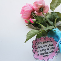 gift teacher appreciation flowers with printable