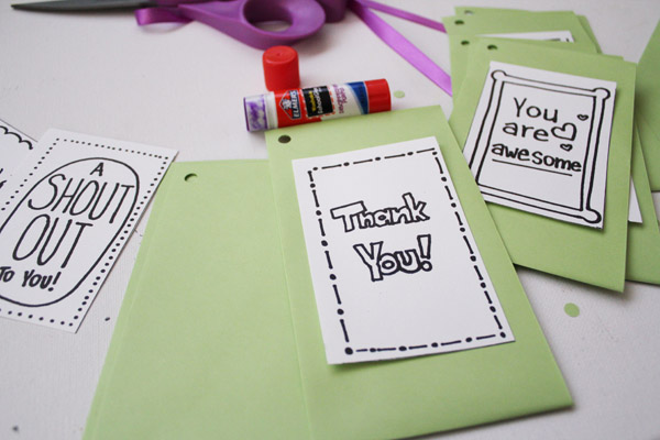 glue notes to envelopes